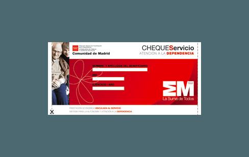 Cheque servicio o prestación económica vinculada al servicio